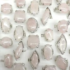Big Rose Quartz Gemstone Rings Natural Stone Rings 50pcs/lot Wholesale