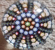 Vintage PERTHSHIRE GREEN PP2? Millefiori 11 Spoke Art Glass Scottish Paperweight