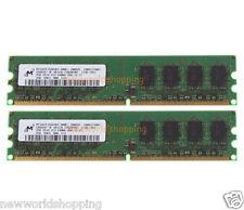 2X 2GB Micron 4GB PC2-6400U PC2-6400 DDR2 800MHz 2RX8 DIMM Desktop Memory T133