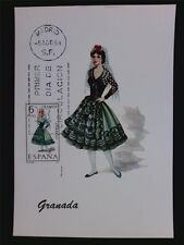 SPAIN MK 1968 COSTUMES GRANADA TRACHTEN MAXIMUMKARTE MAXIMUM CARD MC CM c6025
