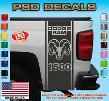 Dodge Ram 1500 Rear Bed Viny Decal Stripes Truck Graphics T-181
