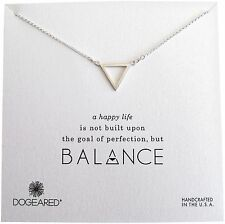 "Dogeared Balance Open Large Triangle Sterling Silver 18""Boxed Necklace"
