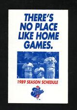 1989 Cleveland Indians Schedule--Budweiser--Joe Carter/John Farrell