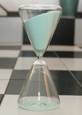 ⌛⌛ RARE DUAL PYRAMID SHAPE COOL MINT SAND HOURGLASS TIMER CLEAR GLASS. 30 min ⌛⌛