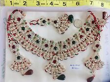 Indian Asian Bridal Bollywood Jewellery Party Ethnic Wear fashion Necklace Set