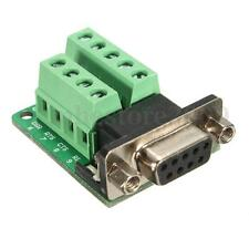 DB9 9-pin Female Adapter RS-232 Port Interface I/O Card Breakout Board Connector