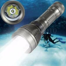 Underwater 30M Waterproof 3000LM T6 LED Diving Flashlight Torch 26650 Dive