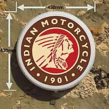 INDIAN Motocicletta Scatola Luce LED Sala Giochi segno Man Grotta Garage Officina camera da letto
