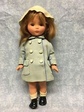 VTG Furga Doll brown hair w cryer / squeaker Made In Italy