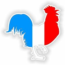 French Rooster with Flag Sticker 10cmx10cm Car Scooter Door Bike Window Tablet