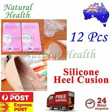 12 Pcs Gel Heel Liner Silicone Shield Round Insole Shoe Cushion Pad Foot Feet