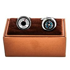 Compass & Thermometer Really Works Cufflinks Wedding Fancy Gift Box Free Ship