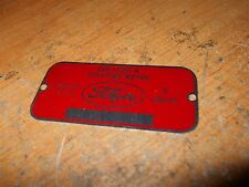 1948 - 1956 FORD CARS AND TRUCKS STARTING MOTOR TAG FAC-11001-H NEW METAL CORREC