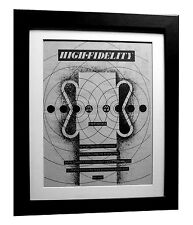ELVIS COSTELLO+High Fidelity+POSTER+AD+RARE ORIG 1980+FRAMED+EXPRESS GLOBAL SHIP