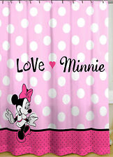 Disney Minnie Mouse Shower Curtain Pink Polka Dots 70in x 72in