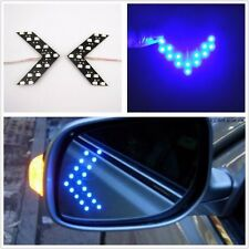 2Pcs 14SMD LED Car Rearview Side Mirror Turn Signal Light For BMW Blue color
