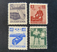 "GERMANY Germania LOKAL Post REICH 1946 "" Grobraschen "" 4 Valori  cpl set MH*"