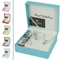 Ladies Complete Watch Gift Set Necklace Earrings Ring Party Wear Jewellery Match