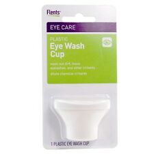 Flents Plastic Eye Wash Cup (White) Wash Out Dirt, Loose Eyelashes and Irritants