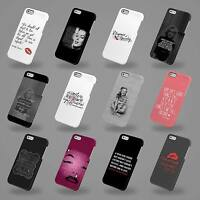 HARD COVER CASE FOR IPHONE 4 5 6 SE MARILYN MONROE QUOTES FAMOUS ACTRESS