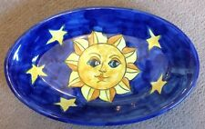 Vietri Pottery-10inch oval with Sun And moon pattern ON SALE.Made in Italy