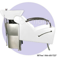 Shampoo Unit Backwash Bowl Chair Salon Equipment White