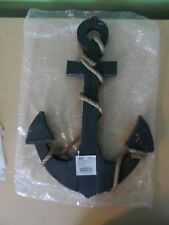 "18"" BOAT ANCHOR W/ CROSSBAR - Wood and Rope - NAUTICAL New Other"