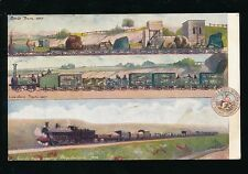 Railway L&NWR 3 views 1837 goods trains Official PPC Used 1905