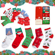 5 Pair Unisex Soft Autumn Winter Warm Christmas Style Crew Socks