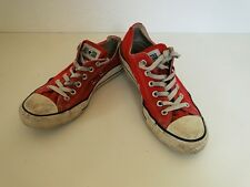 Converse All Star Chucks Sneaker Turnschuhe Slim Low Stoff Rot Gr. 6,5 / 39,5