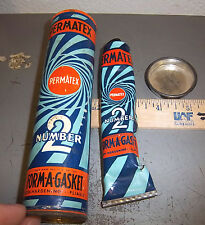 Vintage Permatex number 2 form a gasket tube, 3/4 full, great graphics & colors