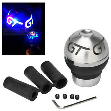Universal For Car GT Blue LED Light Manual Gear Shift Knob Shifter + Battery