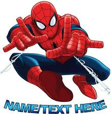 1 LARGE PERSONALISED SPIDERMAN IRON ON T SHIRT TRANSFER LIGHT/WHITE FABRICS #1