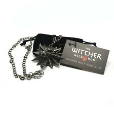 Original the witcher 3 loup médaillon + chaîne + NOIR sachet Merchandising