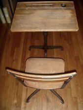 American Seating Company Childs School Desk, Vintage