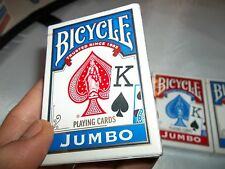 LOT OF 3 NEW DECKS OF BICYCLE CARDS STANDARD SIZE JUMBO FACE PLAYING CARDS