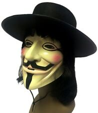 Anonymous V for Vendetta Guy Fawkes Mask Hat Wig Set Adult Costume Accessory New