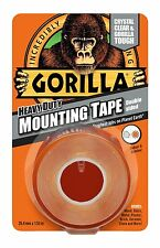 Gorilla glue heavy duty bande de montage double face aux intempéries crystal clear