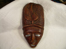 Hand Carved Wooden Mask Wall Hanging Tribal African Art, UNIQUE