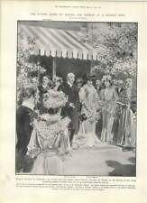 1905 Future Queen Of Sweden And Norway At Charity Fete