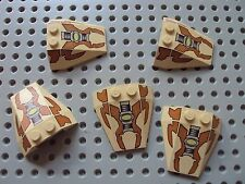 Lego ~ Lot Of 5 Wedge Shaped Printed Bricks / Electronic Space Ship Slope #xvcfd