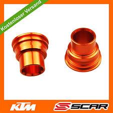 Rad Distanzhülsen HINTEN KTM SX SXF EXC EXCF 125 250 350 450 03-12 ORANGE SCAR