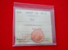 2002 P Canada Specimen 1-cent  ICCS SP-67 Red