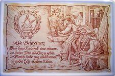 Beruf Schreiner Blechschild Schild Blech Metall Metal Tin Sign 20 x 30 cm