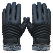 New comfortable Anti Slip Men Thermal Winter Sports Leather Touch Screen Gloves