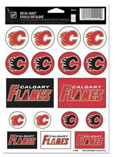 """(HCW) Calgary Flames Vinyl Sticker Sheet 5""""x7"""" Decals NHL Licensed Authentic"""