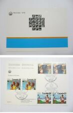 1976 OLYMPIC GAMES MONTREAL CANADA PICTOGRAMS POSTCARD Closing Ceremony 1.8.1976