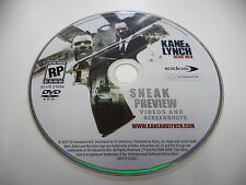 KANE & LYNCH Sneak Preview BONUS DVD..Complete your HITMAN BLOOD MONEY set!!!
