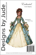 "Enchanted Doll Clothes Sewing Pattern for 16"" Deja Vu Dolls Tonner"