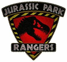 "Jurassic Park 4"" Rangers Shield Red T-Rex Embroidered Patch Great in Person!"